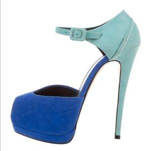 Giuseppe Zanotti Color Block Peep Toe 35.5